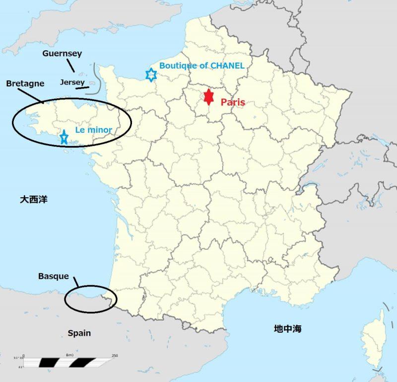 フランス ブルターニュ地方地図