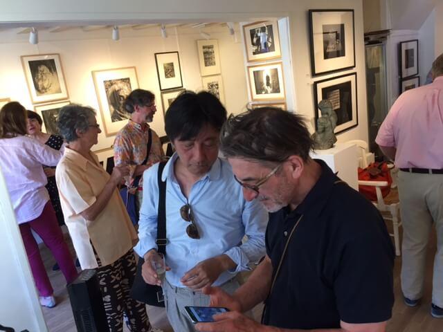 バルビゾン画廊でフランスおやじと知り合いなる 日本のおやじ
