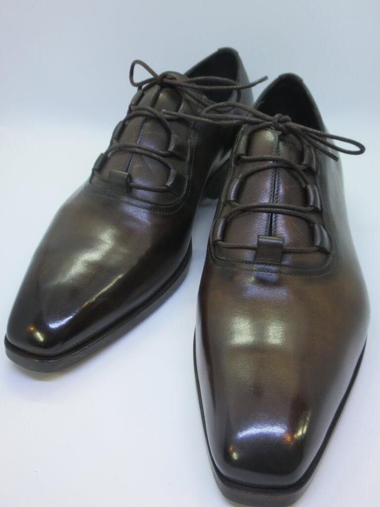 caulaincourt シューズ#YAKUZA dark brown patine