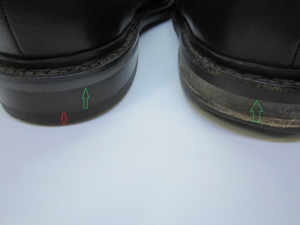 靴踵の修理交換