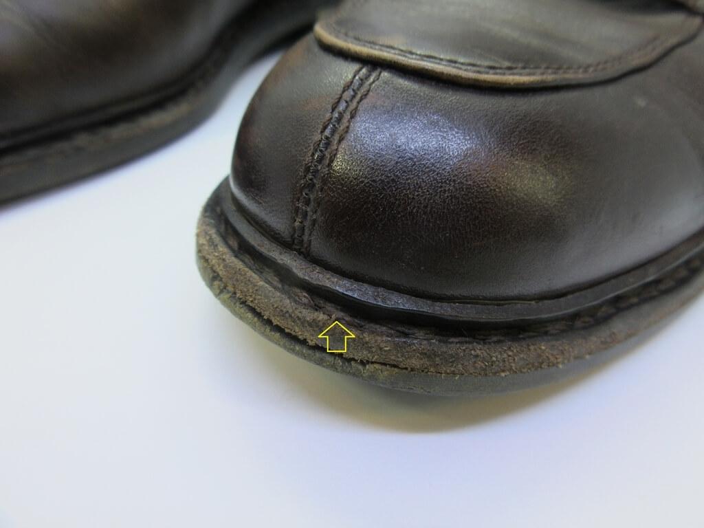 靴 つま先修理