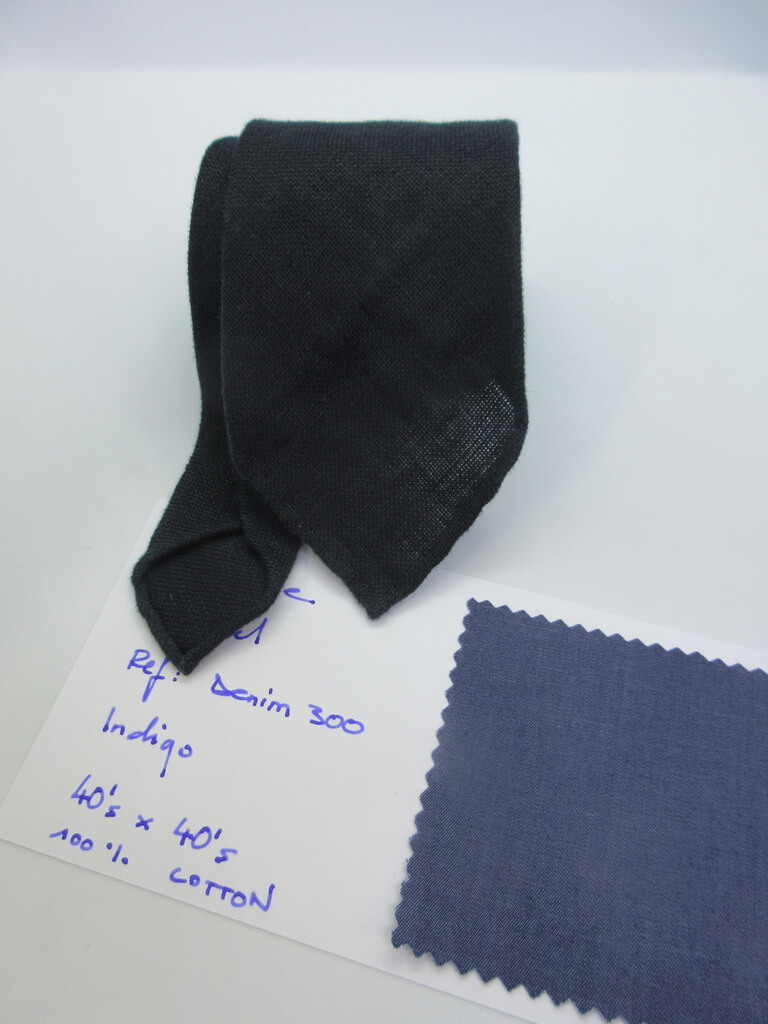 麻素材 織物ネクタイ 綿生地見本