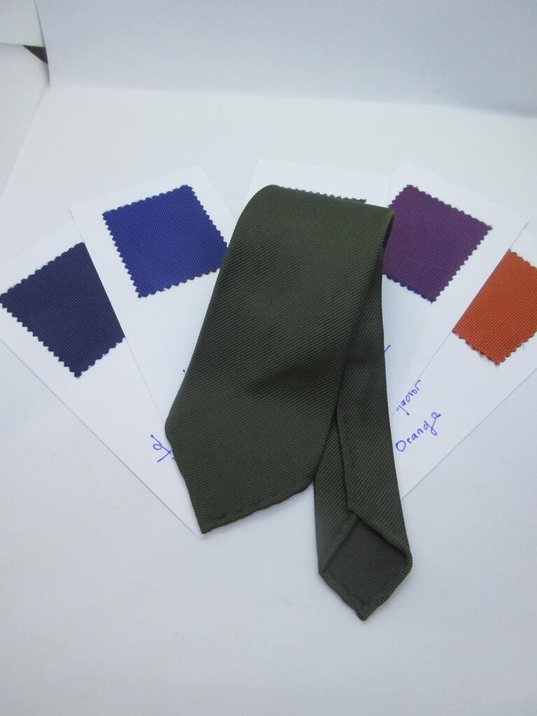 シルク素材 織物ネクタイ