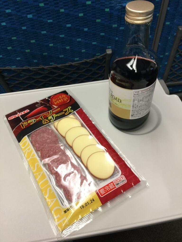 新幹線車内 ワイン おつまみセット
