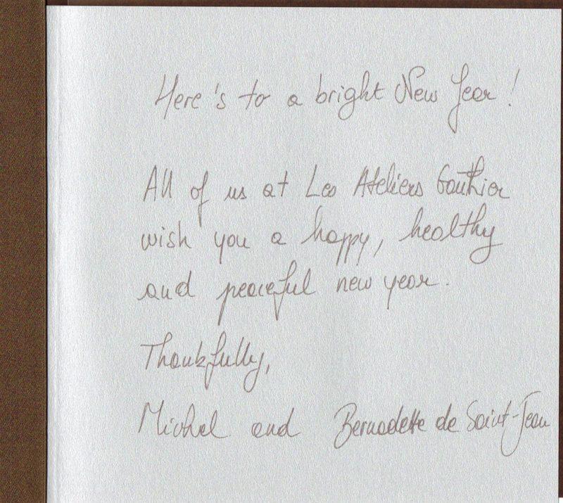 Ateliers Gauthier ミッシェルからのメッセージ