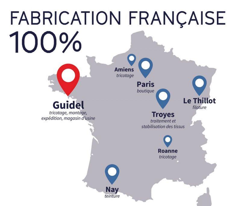 Le Minor フランスの生産拠点地図