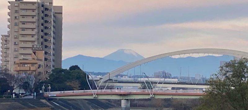 2020年クリスマスの富士山