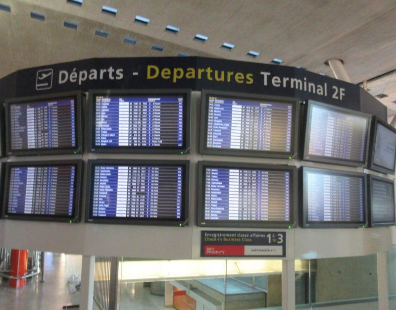 フランス シャルルドゴール空港内