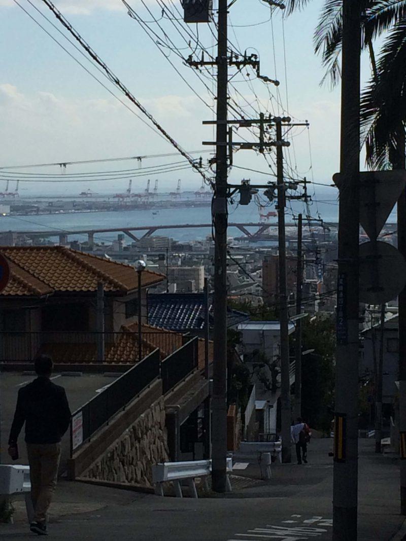 山側からにて海 神戸
