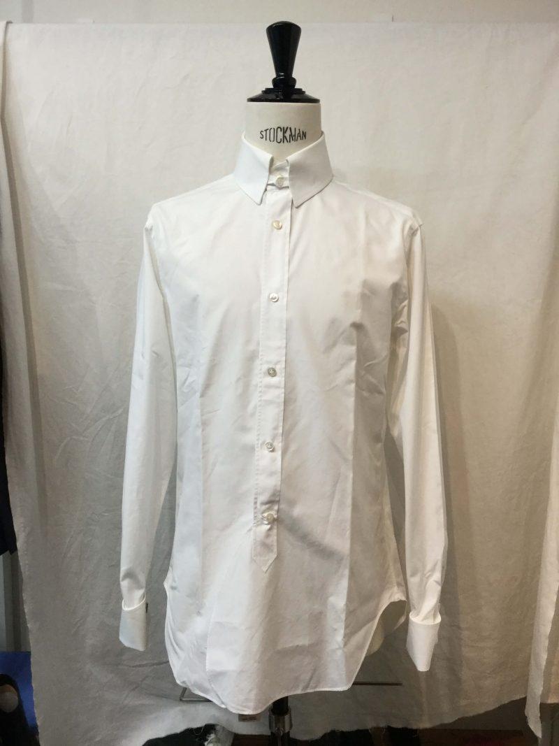 Leys シャツ #Edinbourg タブカラー アトリエ・ゴティエ ミシン縫製