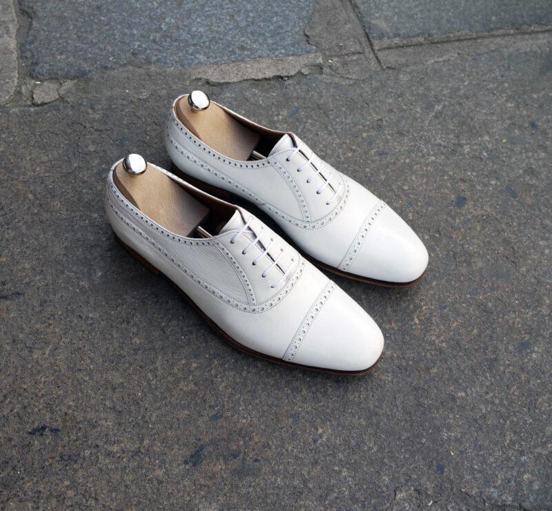 ボロネーゼ製法 鹿革の靴