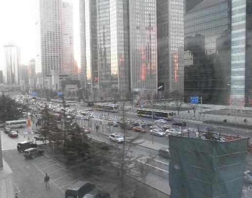 中国北京市内の大渋滞