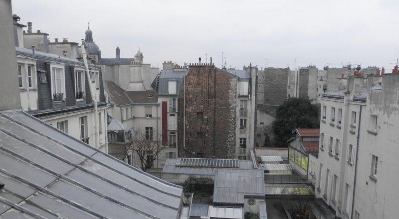 フランス パリ アパートからみた街並み 屋根