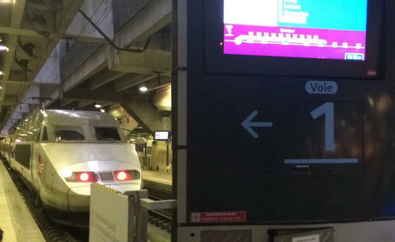 フランス パリ モンパルナス駅 TGVホーム